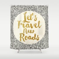 Let's Travel New Roads Shower Curtain