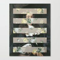 A Portrait With Bars 3 Canvas Print