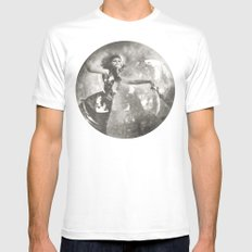 Labyrinth White Mens Fitted Tee SMALL