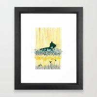 Clover Cat Framed Art Print