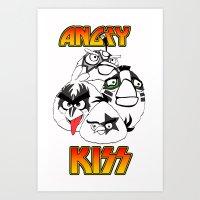 Angry Kiss Art Print