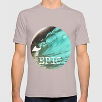 EPIC SURF  Mens Fitted Tee Cinder SMALL