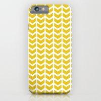 Mustard Chevron iPhone 6 Slim Case