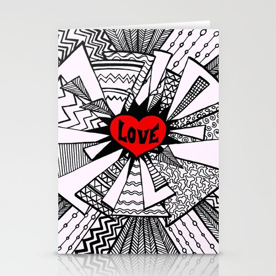 Power of Love... Stationery Card