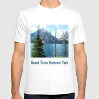 Grand Teton National Par… Mens Fitted Tee White SMALL