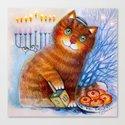 Happy Hanukkah!  Cat Canvas Print