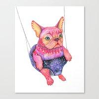 Eule The Magic Bulldog Canvas Print