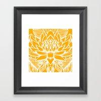 Golden Yellow Lotus Framed Art Print