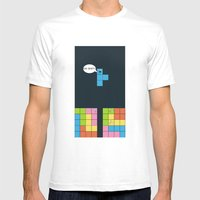 Tetris Mens Fitted Tee White SMALL