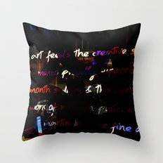 Glowing letters Throw Pillow