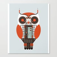 DJ Owl Canvas Print
