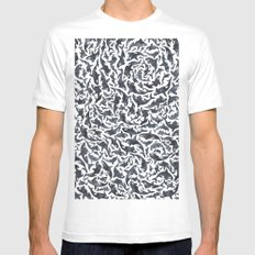 Whale, Orca Mens Fitted Tee White SMALL