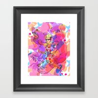 Sharks For Fists Framed Art Print