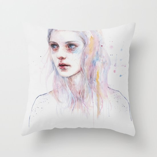 unsaid things Throw Pillow
