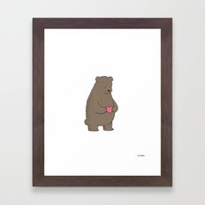 Bear & Heart  Framed Art Print
