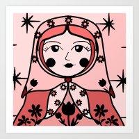 Matryoshka Russian Doll … Art Print
