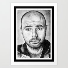 Karl Pilkington Portrait Art Print