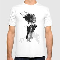 LADY BIRD Mens Fitted Tee White SMALL