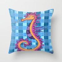 hippocampe 2x Throw Pillow