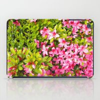 Colorful garden flowers, pink azalea. Floral photography. iPad Case