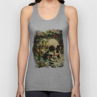 floral skully 2 Unisex Tank Top