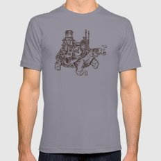 Steampunk Turtle Mens Fitted Tee Slate SMALL