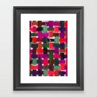 Red, Purple & Green Framed Art Print