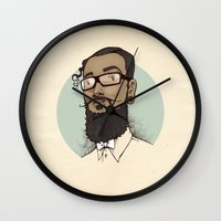 Portrait of Abraham Wall Clock