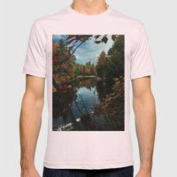 New York Fall Mens Fitted Tee Light Pink SMALL