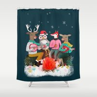 Fireside Christmas By An… Shower Curtain