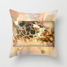 Licking Giraffe Modern G… Throw Pillow