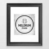 Meldrum Park Framed Art Print