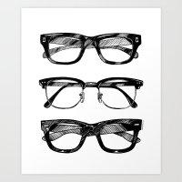 Go Hipster! Art Print