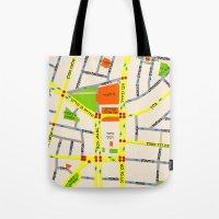 Tel Aviv Map Design - Wr… Tote Bag