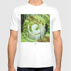 Forest Trips. Mens Fitted Tee White SMALL