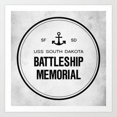 Battleship Memorial Art Print