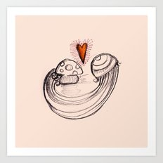 Love is in the air - 2 Art Print