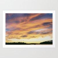 crazy sunset Art Print