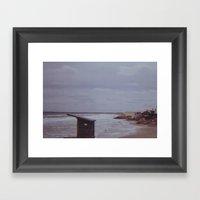 Winter Beach Framed Art Print