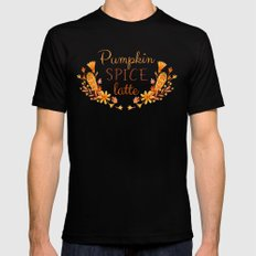 Pumpkin Spice Latte Mens Fitted Tee Black SMALL