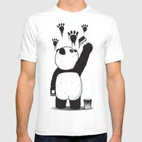 Pandalism Mens Fitted Tee White SMALL