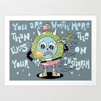 You are Worth More Art Print