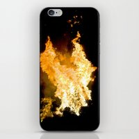 Face in the Flames iPhone & iPod Skin
