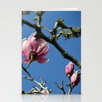 Saucer Magnolias II Stationery Cards
