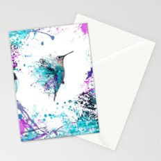 HUMMING BIRD SPLASH Stationery Cards