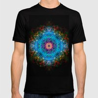 Fractalico Mens Fitted Tee Black SMALL