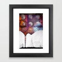 Lunar Flowering  Framed Art Print