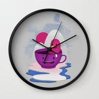Reflections In Coffee Wall Clock