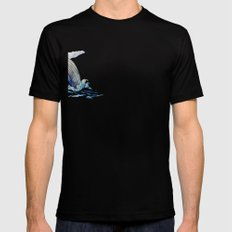 Humpback Whale Mens Fitted Tee Black SMALL