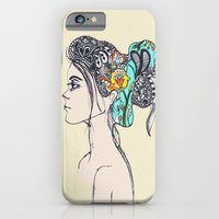 iPhone & iPod Case featuring Doodle Hair by Fatimah khayyat